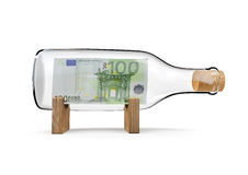 Cientos botellas del euro Imagen de archivo