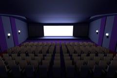 3d rinden de cine Fotografía de archivo libre de regalías