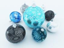 3D rinden de decoraciones hermosas de un día de fiesta Foto de archivo