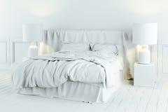 3d rinden de dormitorio industrial hermoso del estilo stock de ilustración