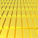 3d rinden de fondo de la barra de oro Fotografía de archivo