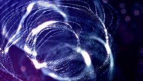3d rinden de la animación de la ciencia ficción del lazo con las estructuras de los anillos del balanceo de la forma de las partí libre illustration