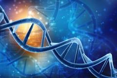 3d rinden de la estructura de la DNA en fondo médico de la tecnología stock de ilustración