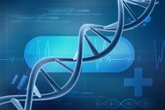 3d rinden de la estructura de la DNA en fondo médico de la tecnología libre illustration