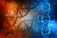 3d rinden de la estructura de la DNA en fondo médico de la tecnología ilustración del vector