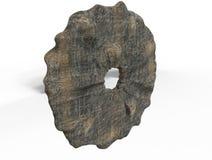 3d rinden de la rueda de piedra Fotos de archivo