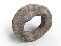 3d rinden de la rueda de piedra Fotos de archivo libres de regalías