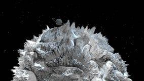 3d rinden de paisaje cósmico como fondo o ambiente El planeta de la opinión del espacio de la nave espacial muy detalló libre illustration