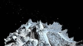 3d rinden de paisaje cósmico como fondo o ambiente El planeta de la opinión del espacio de la nave espacial muy detalló ilustración del vector