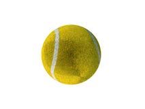 3D rinden de pelota de tenis amarilla Fotografía de archivo