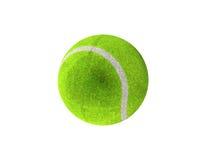 3D rinden de pelota de tenis verde Imagen de archivo libre de regalías