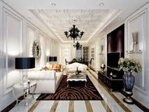 3d rinden de sala de estar