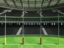 3D rinden de un estadio de fútbol redondo de las reglas del australiano con los asientos negros libre illustration