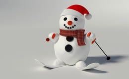 3d rinden de un muñeco de nieve Foto de archivo libre de regalías