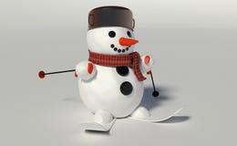 3d rinden de un muñeco de nieve Imágenes de archivo libres de regalías