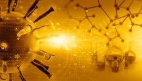 3d rinden de virus ilustración del vector