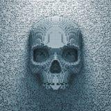 Cráneo del pixel Imagen de archivo libre de regalías