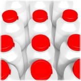 3d rinden del frasco con el casquillo Imagen de archivo