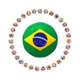 3D rinden del grupo de fútbol Imagenes de archivo