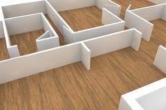 3d rinden del interior de un apartamento vacío o de un edificio de oficinas libre illustration