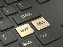 3d rinden del teclado de ordenador con el botón del índice de DAX Imágenes de archivo libres de regalías