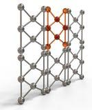 3d rinden el ejemplo de la estructura molecular de la malla Fotos de archivo libres de regalías