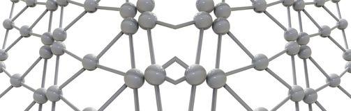 3d rinden el ejemplo de la estructura molecular de la malla Imagenes de archivo