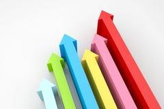 Flechas para arriba Imagen de archivo libre de regalías