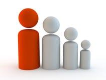 3d rinden el ejemplo para representar fanily o el crecimiento demográfico Imagen de archivo