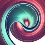 3D rinden el fondo abstracto Formas torcidas coloridas en el movimiento Arte digital generado por ordenador para el cartel, aviad libre illustration