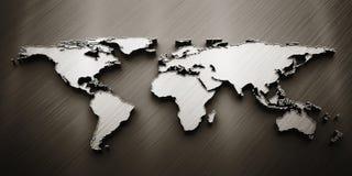 3d rinden el mapa del mundo ilustración del vector