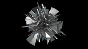 3d rinden el objeto del fractal en el espacio, fondo moderno abstracto, generado por ordenador almacen de metraje de vídeo