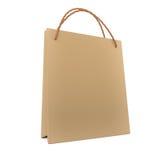 3d rinden la bolsa de papel Foto de archivo libre de regalías