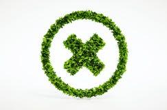 3d rinden la imagen del símbolo de la cancelación del eco Fotografía de archivo