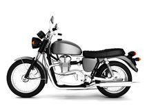 3d rinden la motocicleta aislada obra clásica gris Imágenes de archivo libres de regalías