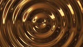 3d rinden la onda abstracta del oro 3d de la ondulación del círculo stock de ilustración