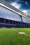 3d rinden la tarde de alta tecnología emptry del estadio sin la gente Fotos de archivo libres de regalías