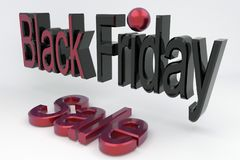 3D rinden las muestras Black Friday y la venta Bandera para el negocio