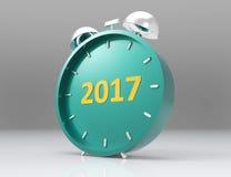 2017 3D rinden, 2017 nuevo Year& x27; cabeza de s stock de ilustración