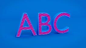 3d rindió el ABC stock de ilustración