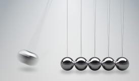 3D rindió el ejemplo de la cuna de los neutonios - bolas de equilibrio Imagen de archivo