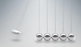 3D rindió el ejemplo de la cuna de los neutonios - bolas de equilibrio Imágenes de archivo libres de regalías