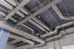 3D rindió el ejemplo del sistema y de los tubos de la HVAC Imagenes de archivo
