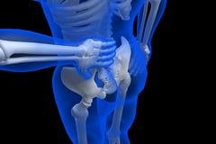 3d rindió el ejemplo - dolor de espalda Imagen de archivo