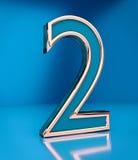 3d rindió el número dos stock de ilustración