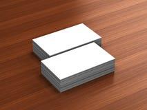 Maqueta en blanco de las tarjetas de visita Foto de archivo libre de regalías