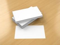 Maqueta en blanco de las tarjetas de visita Imagenes de archivo