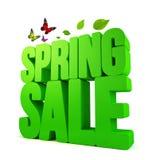 3D rindió palabra de la venta de la primavera con las trayectorias de recortes stock de ilustración