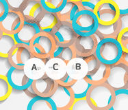 3d rings on grey. Geometrical modern abstract background Stock Photos