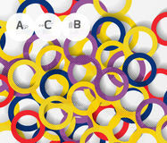 3d rings on grey. Geometrical modern abstract background Royalty Free Stock Photography